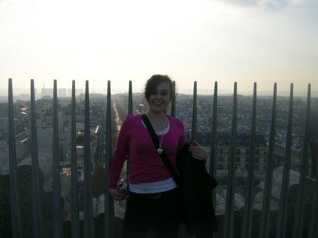nic on top of arc de triomphe