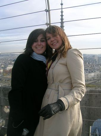 ana and nic on top of notre dame
