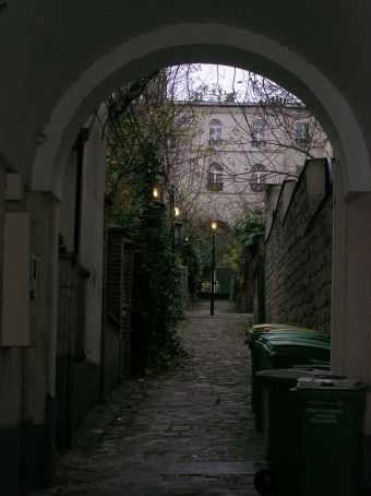 pretty alley way in ghetto area