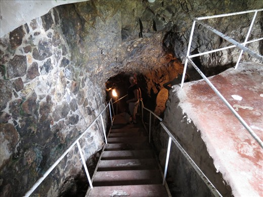 Down into the mine