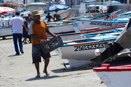 Every day at the dawn the local fisherman on Mazatlan set sail to bring fresh fish and earn some money. It's a hard work but they love to do it.