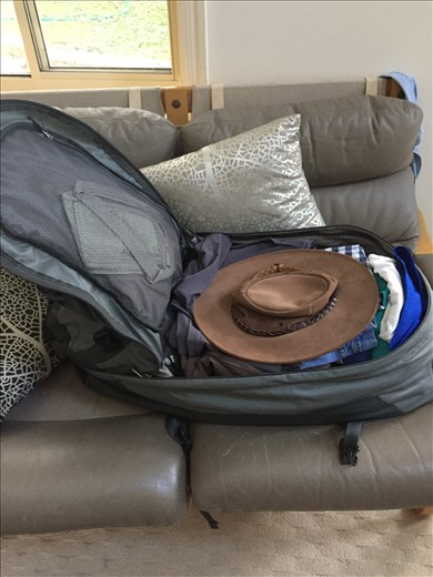 Bags packed ready to go (almost)