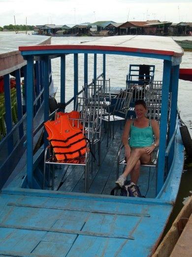 Pita Bread on a boat