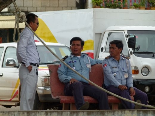 Sameth paying the local police to keep an eye on his car!