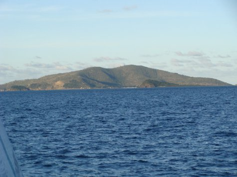 Hayman Island from afar, our transport to and from the island is boat, seaplane or helicopter.