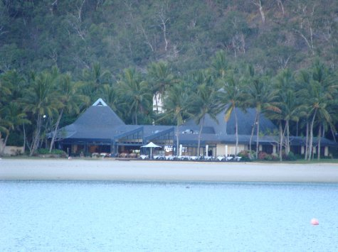 This is Azure Restaurant from the water, this is the restaurant Andy is based in.