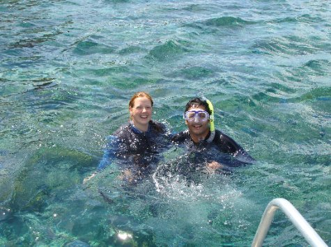 Andy's first snorkelling trip