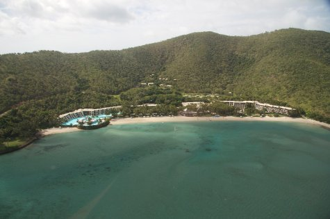 The resort from the air