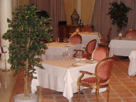The La Fontaine dining room
