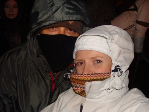 New Year's Eve - it was a little chilly!