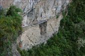 Inca bridge - check out the plank across the gap in the ledge against the sheer cliff.: by andyandsam, Views[295]