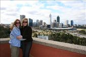 Mo and Sam having a group hug in Kings Park above Perth City.: by andyandsam, Views[344]