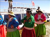 Islas Flotantes - Uros women doing a dance for us!: by andyandsophie, Views[251]