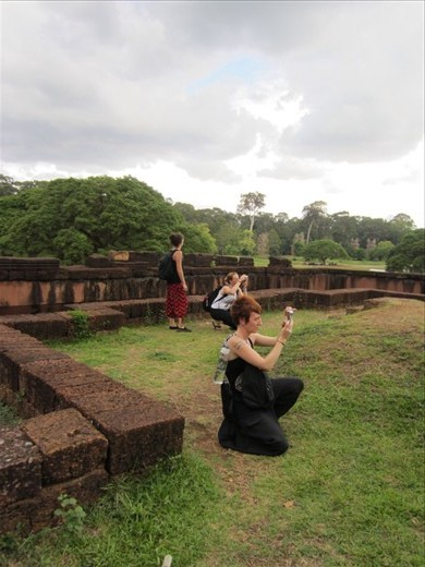 We were in awe at the Killing Fields, Angkor Thom, and Angkor Wat.  Most of the day visiting these locations were spent wandering around taking photos.
