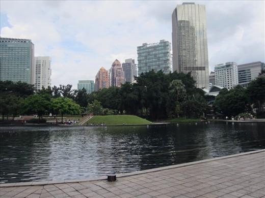Park around Petronas Twin Towers.
