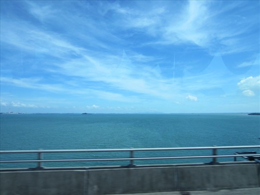 Time to go back to Malaysia.  Border between Singapore and Malaysia.