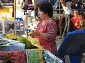 Thai woman selling jackfruit - very yummy!: by ang_and_abe, Views[305]
