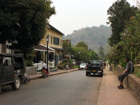 The pretty streets and French style architecture of Luang Prabang
