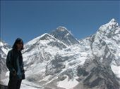 Mt Everest hiding behind Nuptse and Lhotse, from Kala Pathar: by ang_and_abe, Views[285]