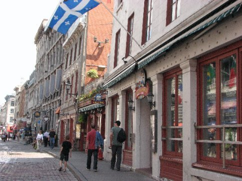 The cute cobbled streets and architecture of Old Montreal