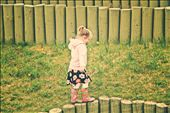 A cute little girl was playing on a small fence at Toronto Zoo. Her mother was calling her, but she was so lost in her childhood dreams.: by angadskhalsa, Views[388]