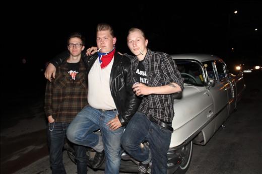 Teen rockabilly band, Pepita Slappers, from northern Sweden. Fun bunch.