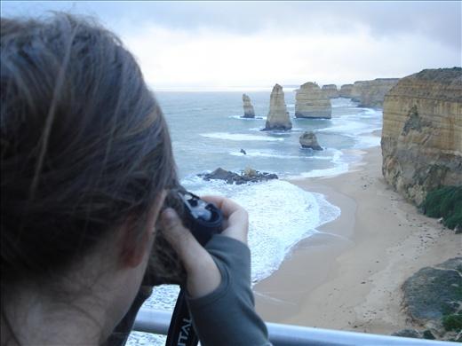 I'm taking a photo of the Twelve Apostles - Victoria, Australia