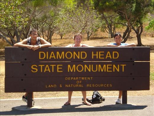 About to climb Diamondhead - Honolulu, Hawaii