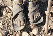 The weathered feet of of a Masai girl. This photo represents the harsh reality of nomadic life.: by angiel, Views[648]