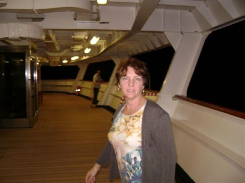 On the deck of MS Statendam