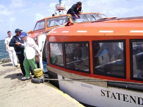 Ship's lifeboats used as tenders