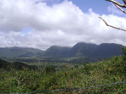 A drive into the Panama highlands, looking down into El Valle