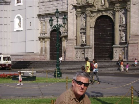 Cathedral, Lima, funded by Pizarro's daughter on condition that dad got buried in the cathedral in a prominent location.