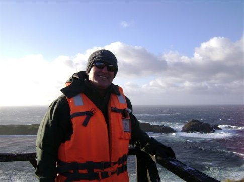 100-knot + winds on top of the cliffs, Cape Horn