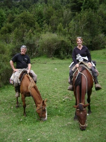 Horse riding in the Cochamo Valley, Chile