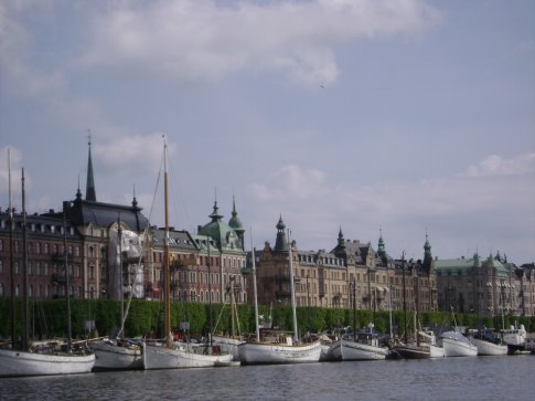 Waterfront in Stockholm harbor.