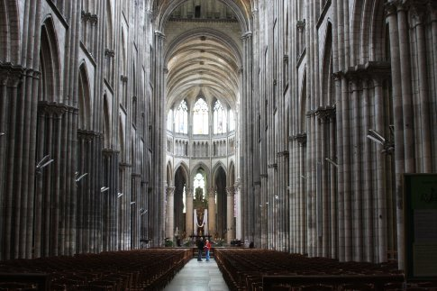 Main section of the cathedral, Rouen, France