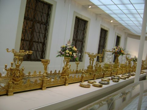 This 100-foot long centerpiece was ordered for the Kaiser's coronation dinner.
