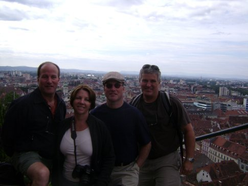 On the castle hill overlooking Graz, Austria