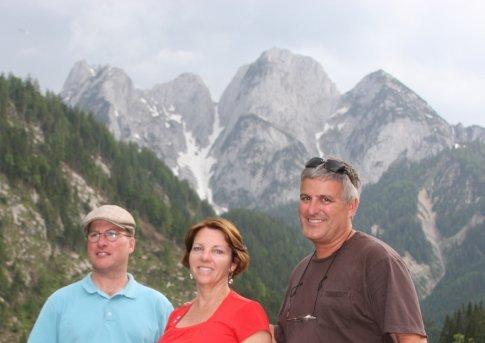 Alps over Gossau, Austria