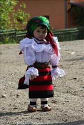 Adorable little girl in typical dress, Maramures, Romania.: by anijensen, Views[4161]