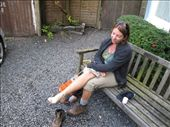 A little foot doctoring before leaving the Grasmere Hotel, Sep. 4.: by anijensen, Views[183]