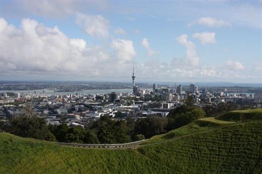 Looking north over Auckland, New Zealand