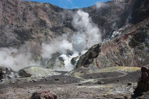 White Island volcano, inside the crater