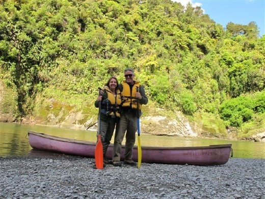 Canoeing on the Whanganui River, New Zealand