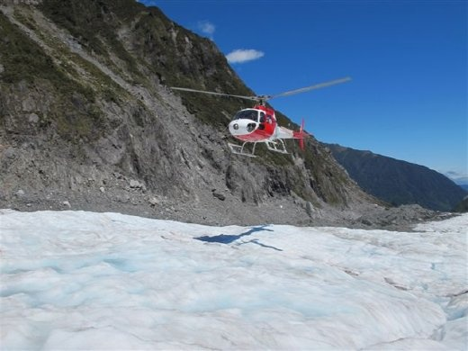 This is the helipcopter that brought us up onto the glacier for our hike