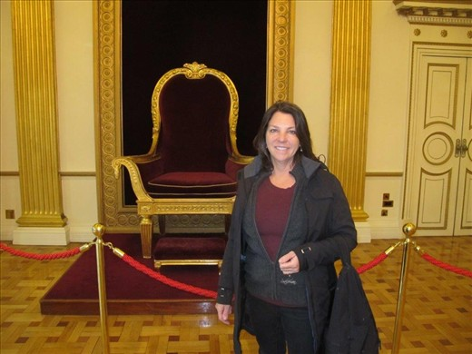 A queen in the throne room, Dublin Castle