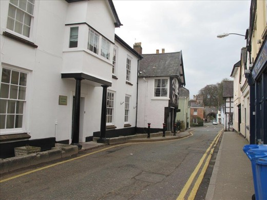Our room impeding traffic, Ruthin, Wales