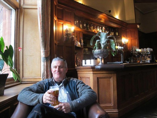 Drinks at Ruthin Castle, Wales