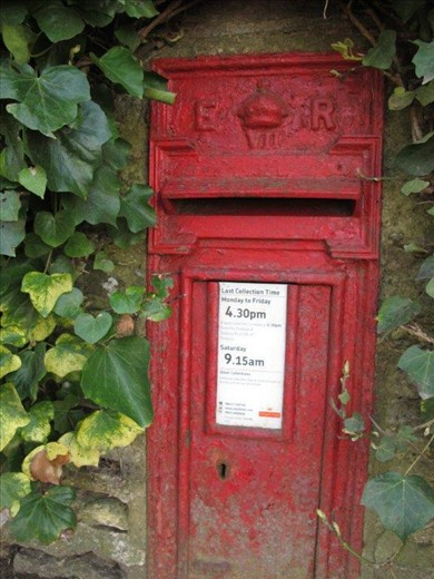 Edwardian mailbox, over 100 years old and still in daily use.